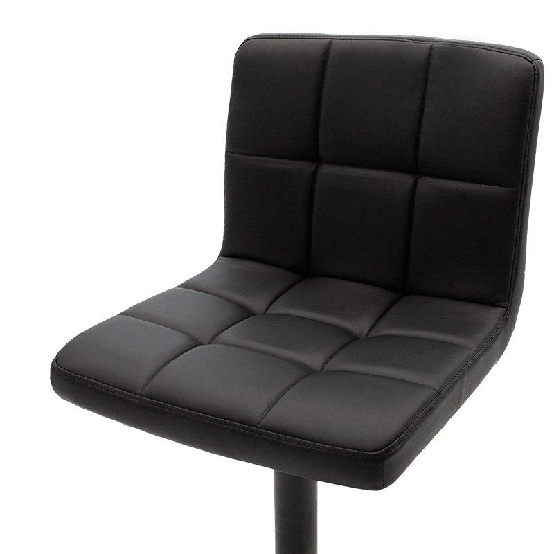 Σκαμπώ μπαρ Remina pakoworld πτυσσόμενο μεταλλικό μαύρο ματ με PU χρώμα μαύρο