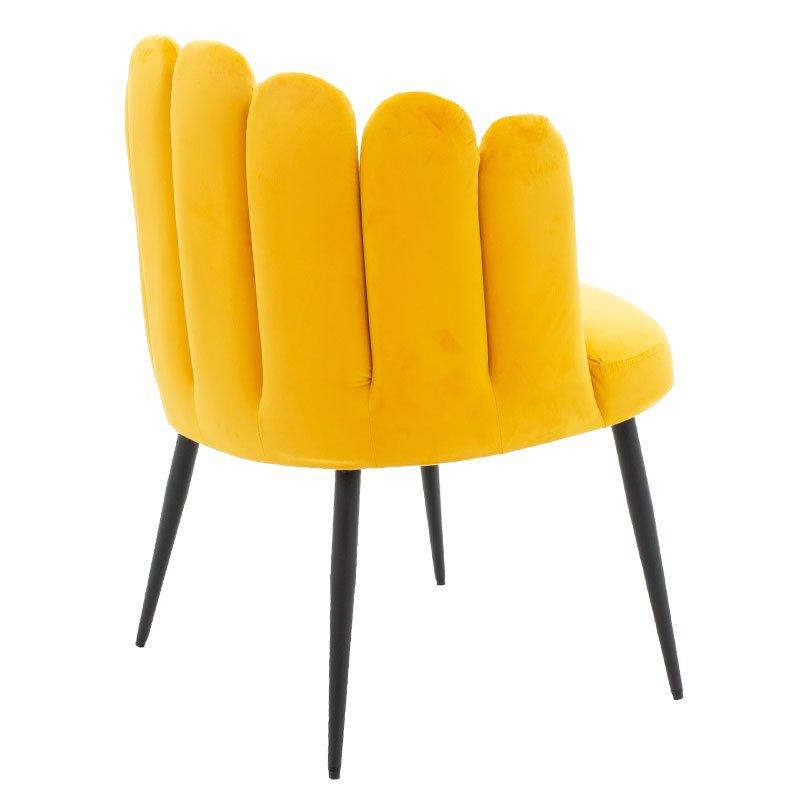 Πολυθρόνα Avery pakoworld βελούδο χρώμα 68x60x87εκ