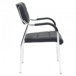 Καρέκλα γραφείου επισκέπτη Florida pakoworld με PVC χρώμα μαύρο