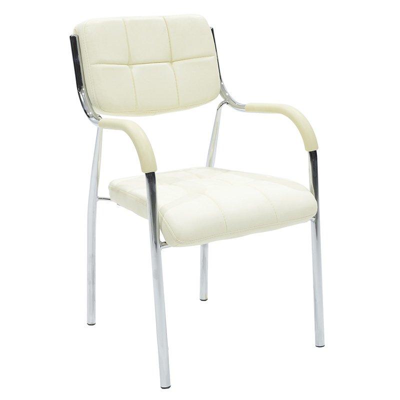 Καρέκλα γραφείου επισκέπτη  Florida pakoworld με PVC χρώμα εκρού