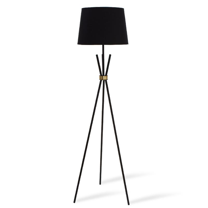 Μεταλλικό μαύρο ματ-μπρονζέ φωτιστικό δαπέδου PWL-0003 pakoworld E27 μαύρο καπέλο Φ33-38x161εκ