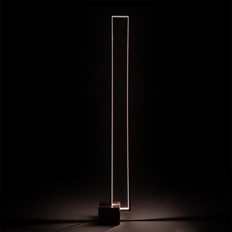 Φωτιστικό δαπέδου LED PWL-0941 pakoworld καφέ χρώμα 15x28x155εκ