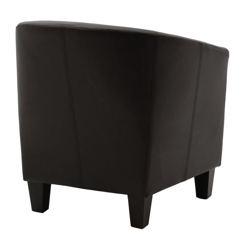 Πολυθρόνα Grant pakoworld μαύρο τεχνόδερμα 67x65x70εκ