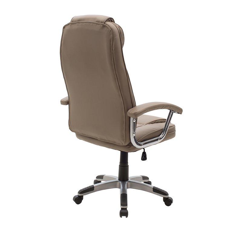 Καρέκλα γραφείου διευθυντή Notorius pakoworld pu χρώμα μπεζ-γκρι