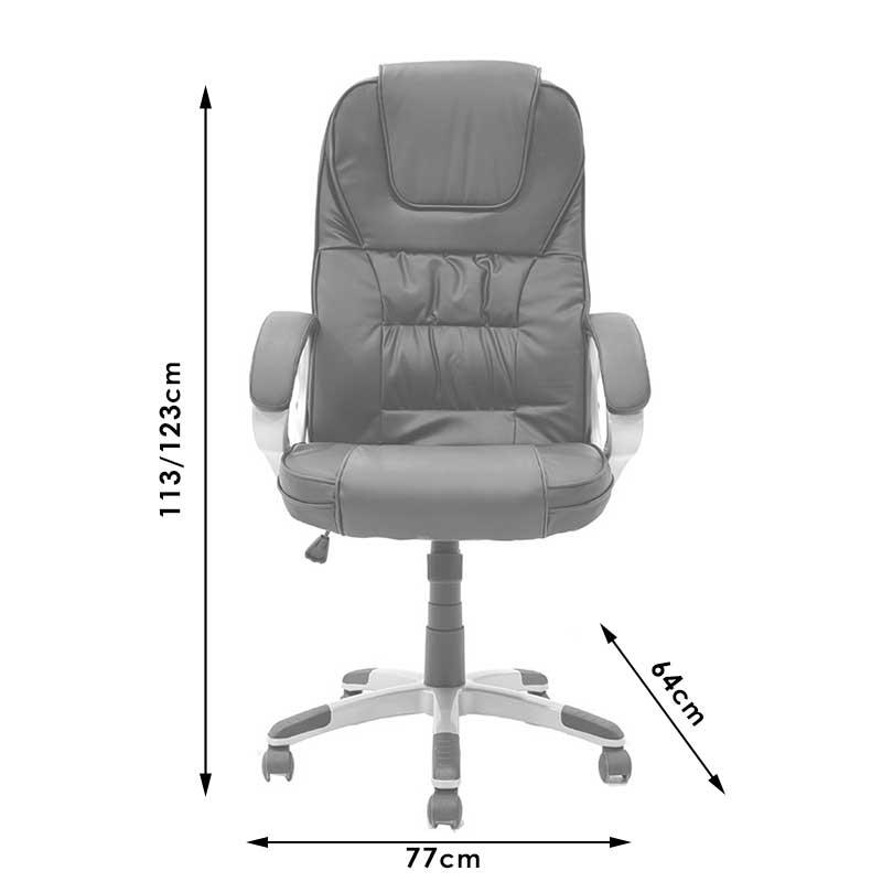 Καρέκλα γραφείου Relax pakoworld με μηχανισμό massage pu μαύρο
