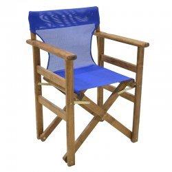 Διάτρητο πανί pakoworld επαγγελματικό για πολυθρόνα σκηνοθέτη χρώματος μπλε