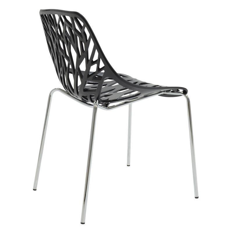 Καρέκλα Mare pakoworld πολυπροπυλενίου χρώμα μαύρο επαγγελματική κατασκευή