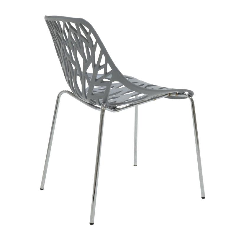 Καρέκλα Mare pakoworld πολυπροπυλενίου χρώμα γκρι επαγγελματική κατασκευή