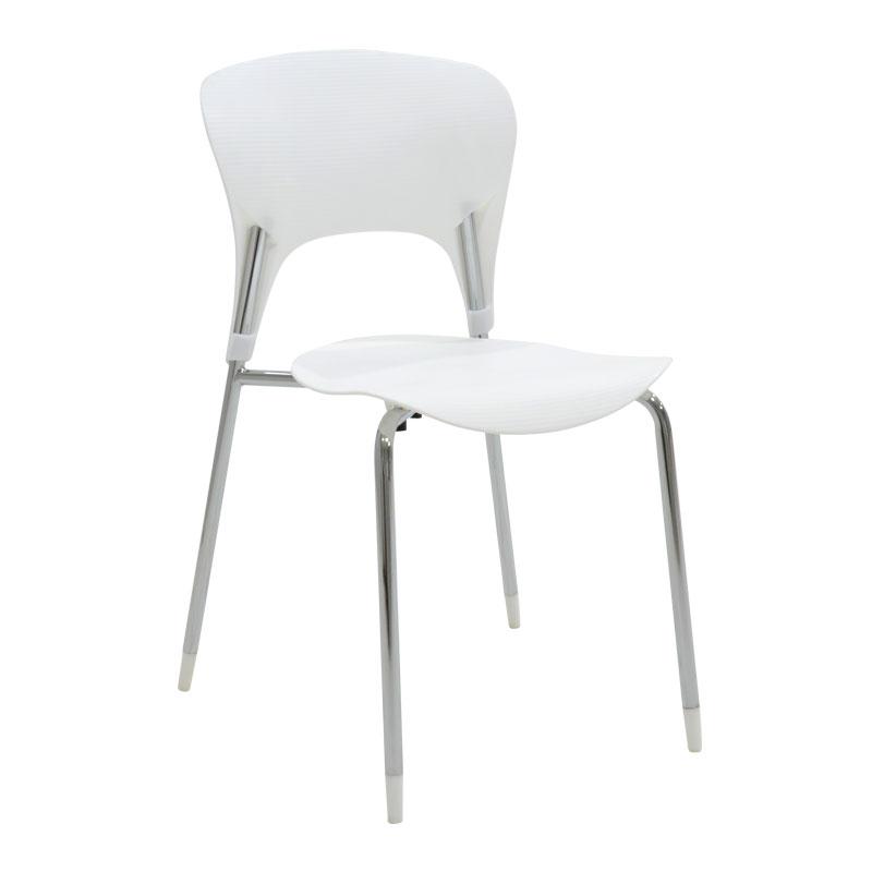 Καρέκλα Lousia pakoworld πολυπροπυλενίου χρώμα λευκό επαγγελματική κατασκευή