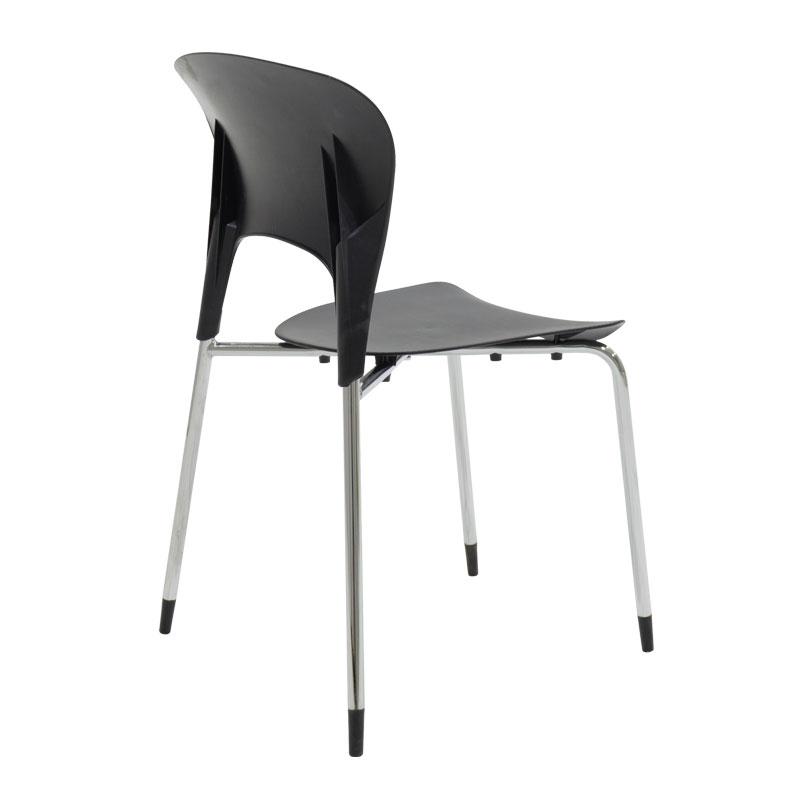 Καρέκλα Lousia pakoworld πολυπροπυλενίου χρώμα μαύρο επαγγελματική κατασκευή