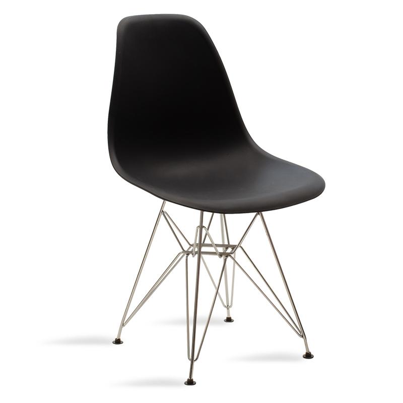 Καρέκλα Claus pakoworld πολυπροπυλενίου μαύρο χρώμα-πόδια ΙΝΟΧ