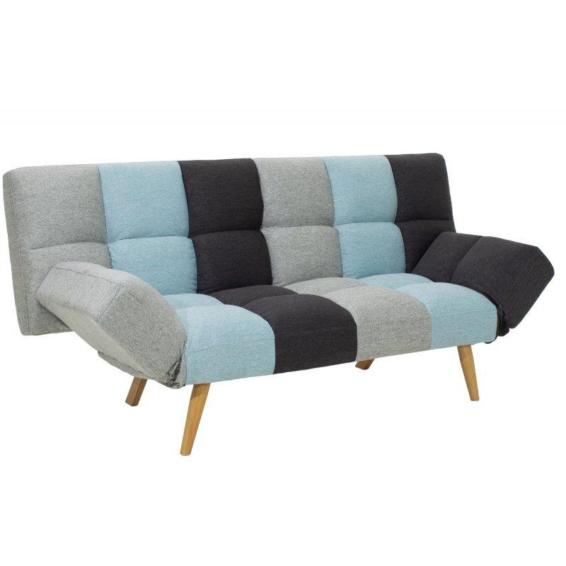 Καναπές - κρεβάτι 3θέσιος Freddo pakoworld με ύφασμα πολύχρωμο 182x81x84εκ