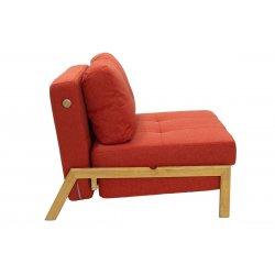 Πολυθρόνα - κρεβάτι Fancy pakoworld με ύφασμα πορτοκαλί 96x92x70εκ