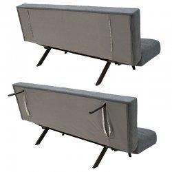 Καναπές - κρεβάτι 3θέσιος Freddo pakoworld με ύφασμα ανθρακί πόδι μαύρο 182x81x84εκ