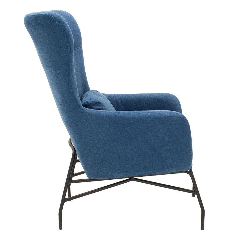 Πολυθρόνα - μπερζέρα Rimbo pakoworld με ύφασμα μπλε 66x81x102εκ