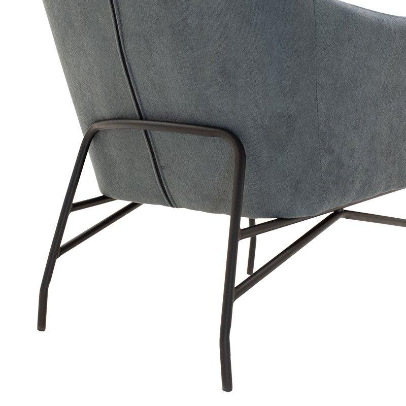 Πολυθρόνα - μπερζέρα Rimbo pakoworld με ύφασμα γκρι 66x81x102εκ