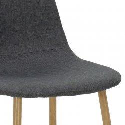 Καρέκλα Bella pakoworld μεταλλική φυσικό με ύφασμα ανθρακί