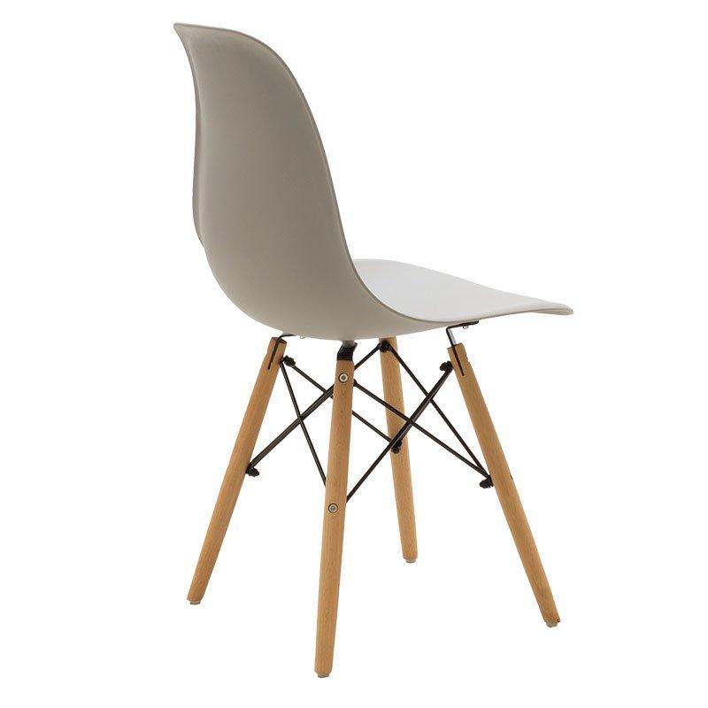 Καρέκλα Julita pakoworld PP χρώμα γκρι - φυσικό