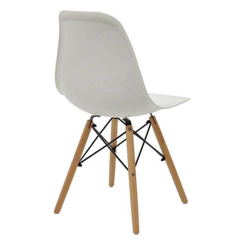 Καρέκλα Julita pakoworld PP χρώμα λευκό - φυσικό