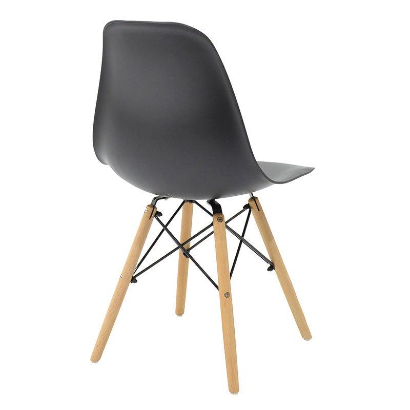 Καρέκλα Julita pakoworld PP χρώμα μαύρο - φυσικό