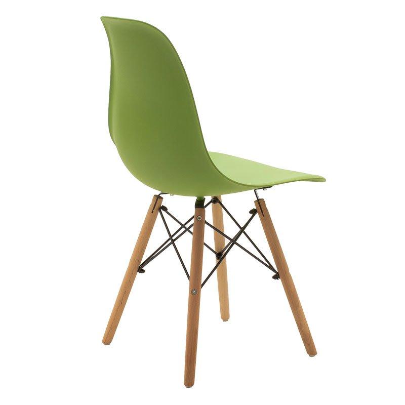 Καρέκλα Julita pakoworld PP χρώμα πράσινο - φυσικό