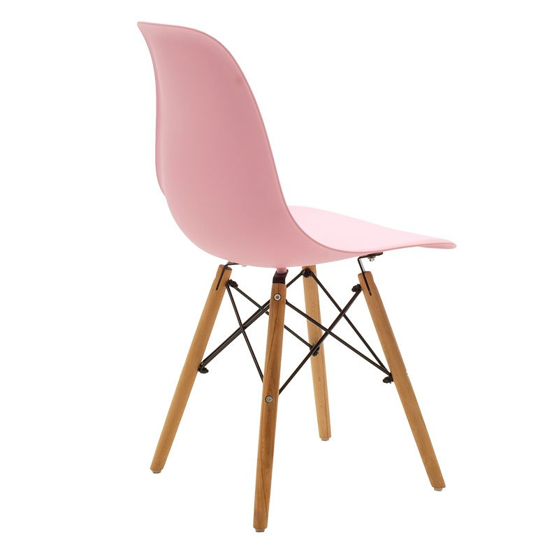 Καρέκλα Julita pakoworld PP χρώμα ροζ - φυσικό