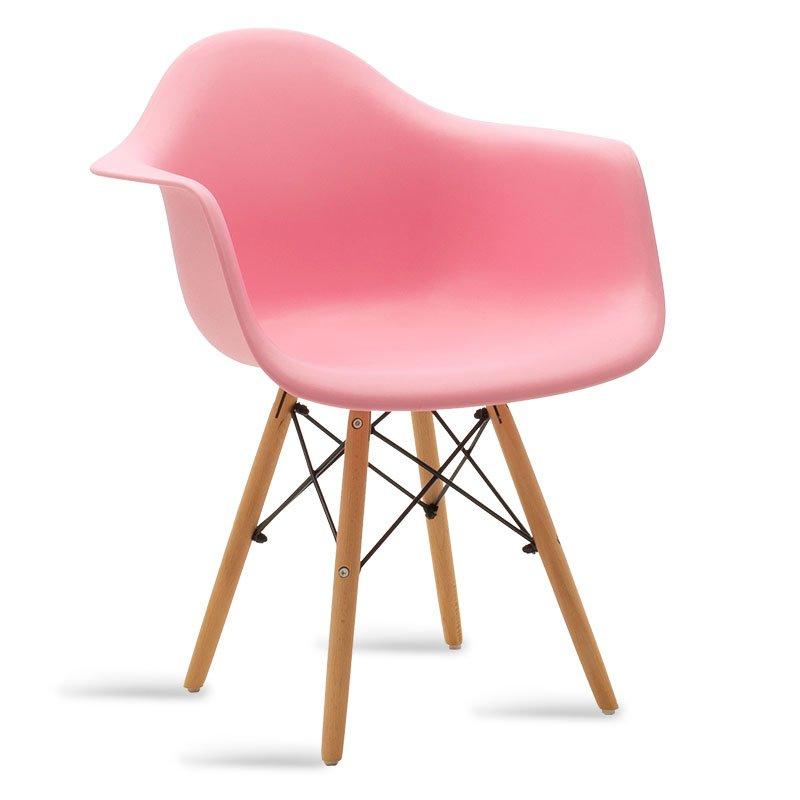 Πολυθρόνα Julita pakoworld πολυπροπυλενίου χρώμα ροζ - φυσικό