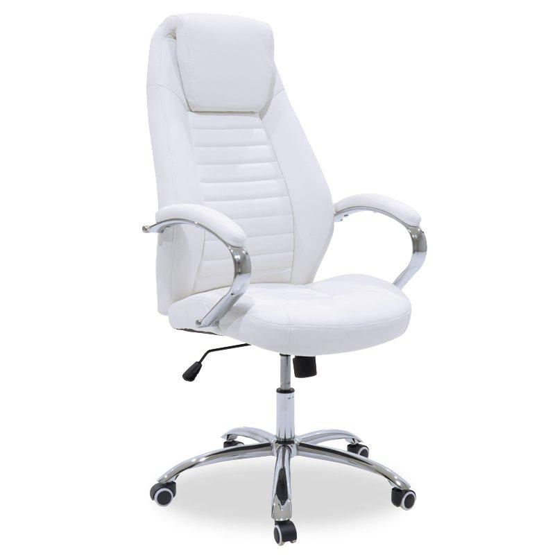 Καρέκλα γραφείου διευθυντή Sonar pakoworld pu λευκό