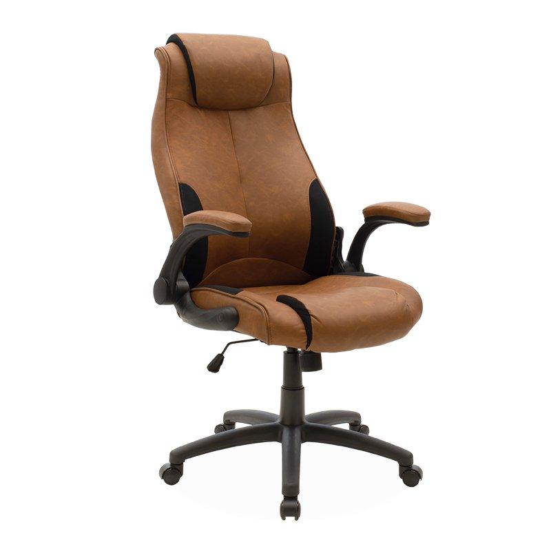 Καρέκλα γραφείου διευθυντή Bear pakoworld pu ταμπά antique-μαύρο