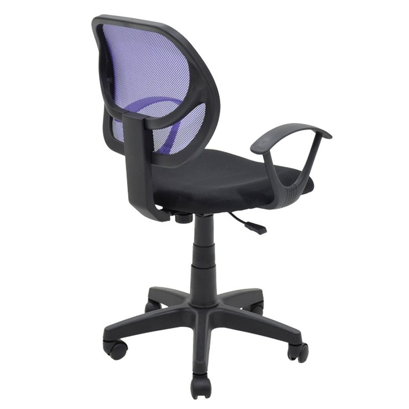 Παιδική καρέκλα Sara pakoworld με ύφασμα mesh χρώμα μαύρο-μωβ