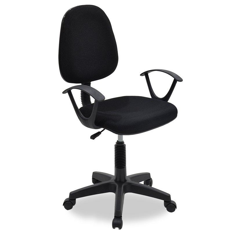Καρέκλα γραφείου εργασίας Maria pakoworld με ύφασμα mesh χρώμα μαύρο