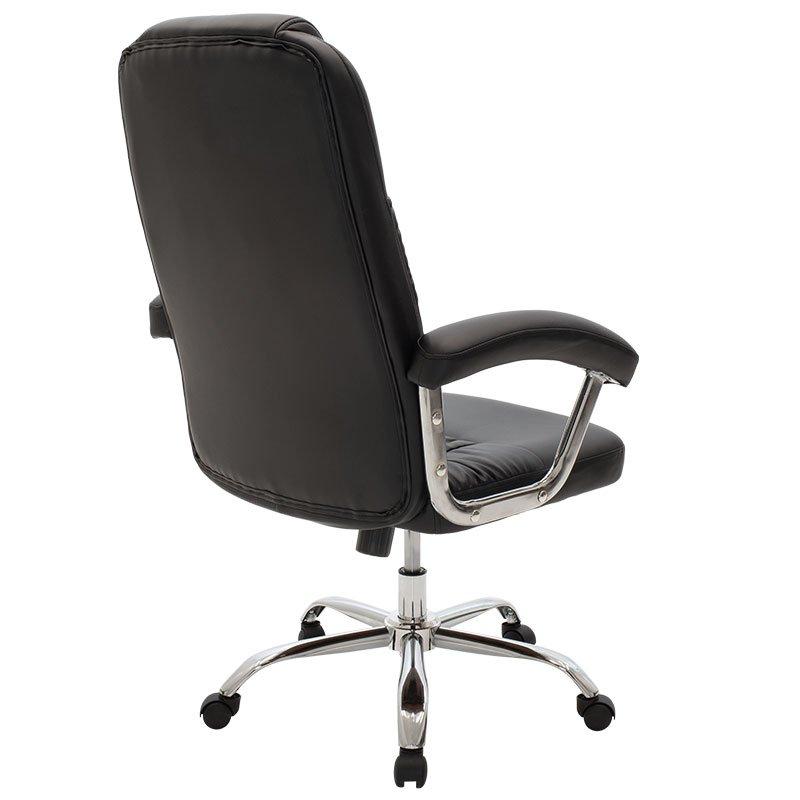 Καρέκλα γραφείου διευθυντή Viggo pakoworld τεχνόδερμα μαύρο