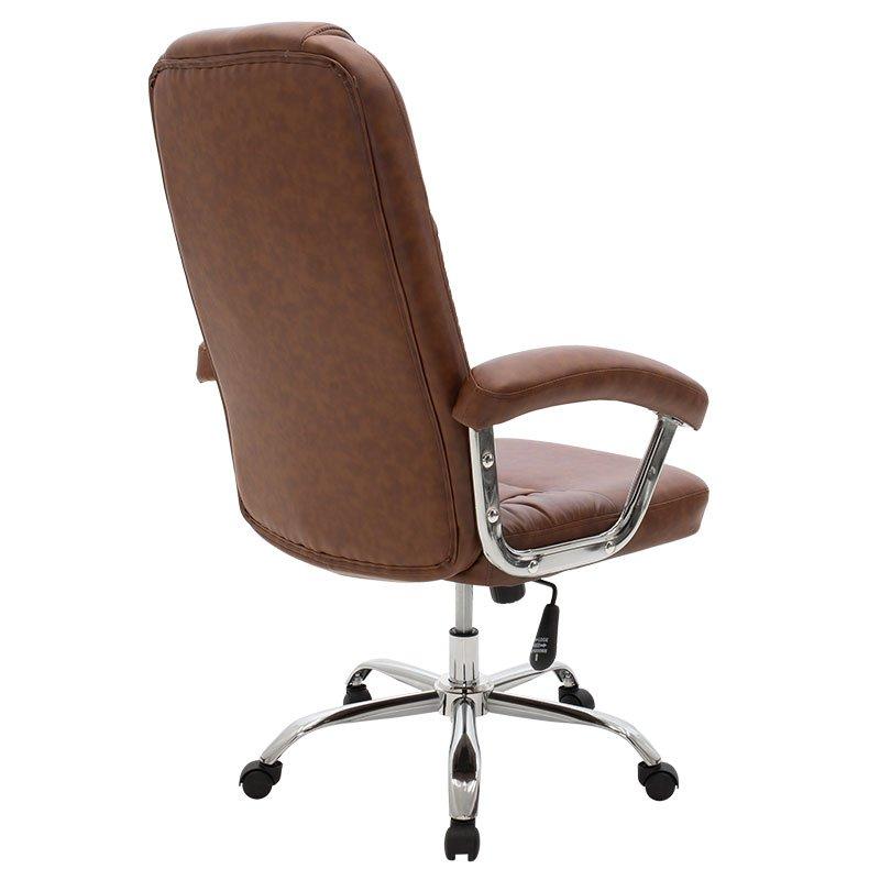 Καρέκλα γραφείου διευθυντή Viggo pakoworld τεχνόδερμα καφέ