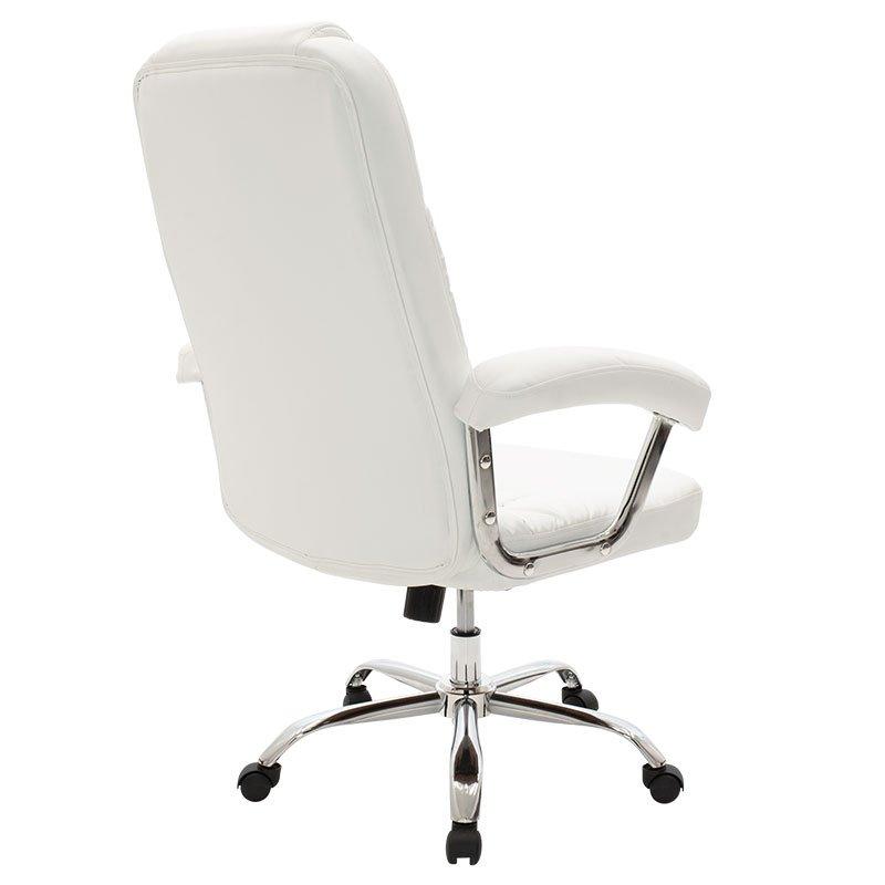 Καρέκλα γραφείου διευθυντή Viggo pakoworld τεχνόδερμα λευκό