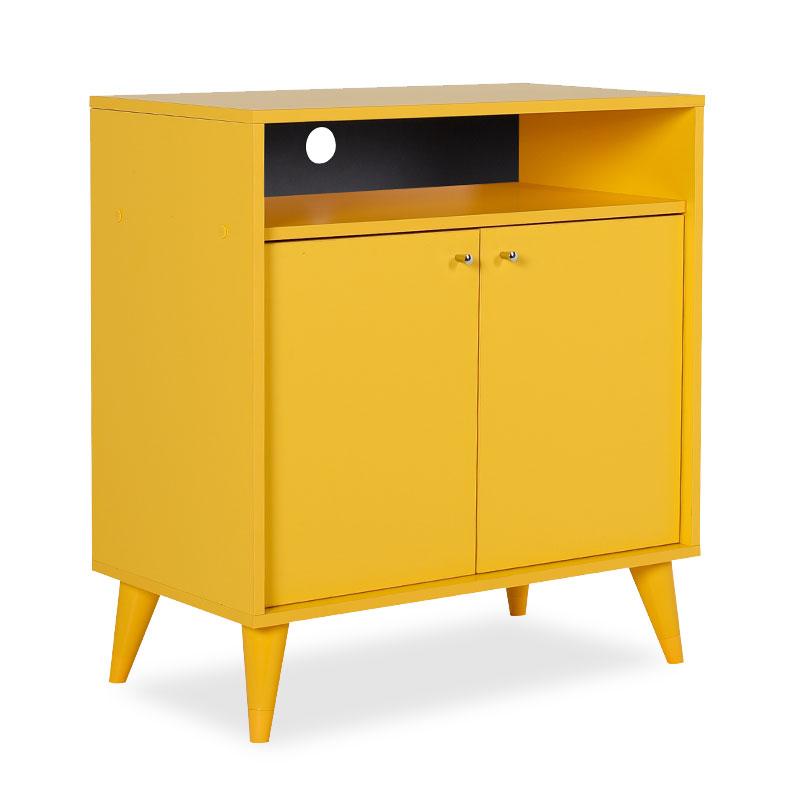 Έπιπλο TV-Ντουλάπι-Παπουτσοθήκη 6 ζεύγων London pakoworld κίτρινο 72x40x79εκ