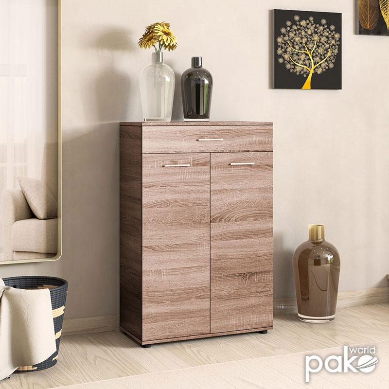 Ντουλάπι-Παπουτσοθήκη Trendline pakoworld με συρτάρι 20 ζεύγων χρώμα latte 73x35x108εκ