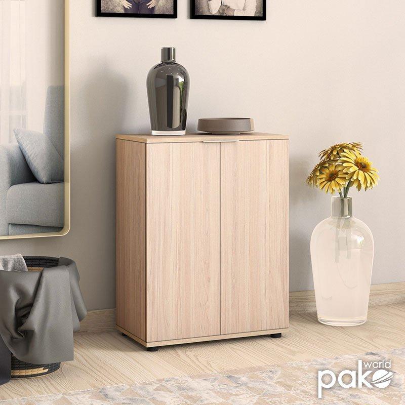 Ντουλάπι-Παπουτσοθήκη Dynamic pakoworld 15 ζεύγων χρώμα light sonoma 60x34x78εκ