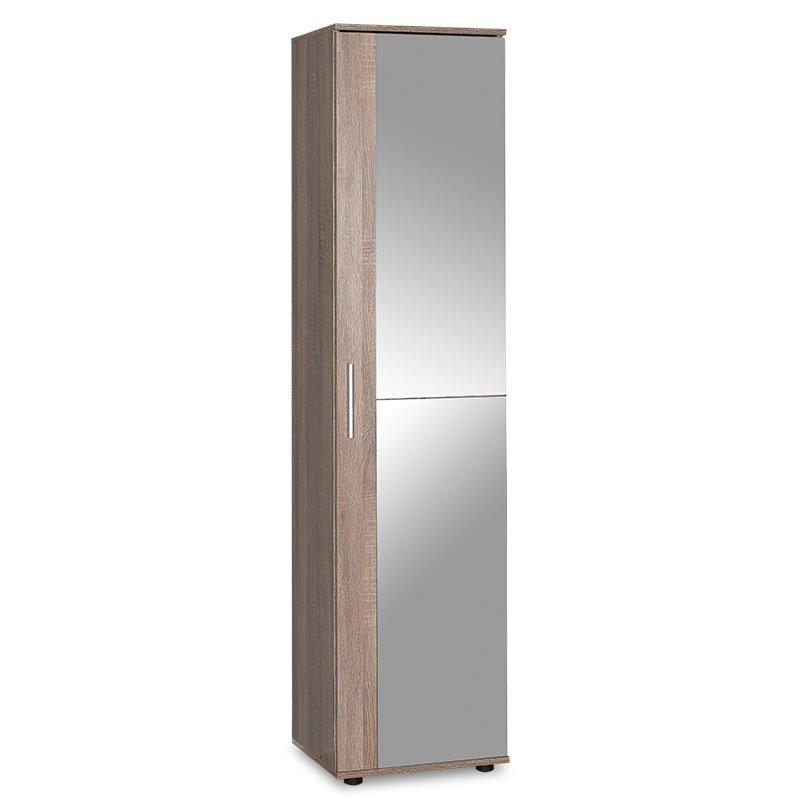 Έπιπλο εισόδου-παπουτσοθήκη Porto pakoworld με καθρέπτη 20 ζεύγων χρώμα latte 45x36x187εκ