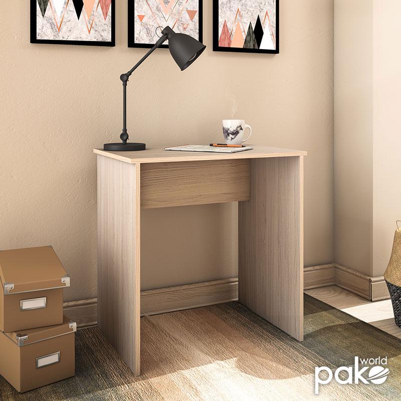 Μίνι γραφείο Dynamic pakoworld σε χρώμα light sonoma 72x50x74εκ