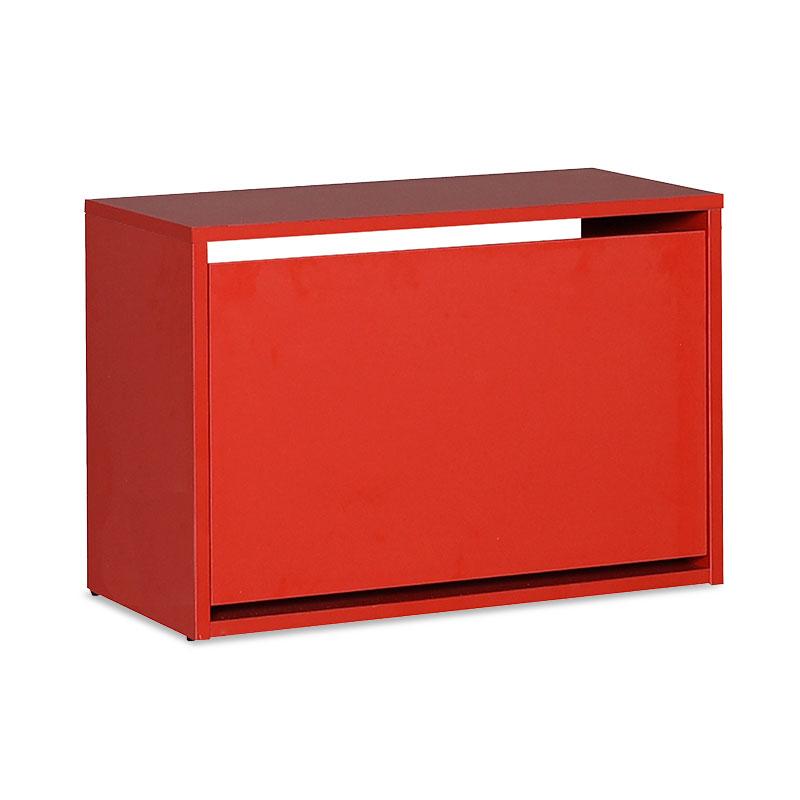 Παπουτσοθήκη ανακλινόμενη Step 6 ζεύγων pakoworld σε χρώμα κόκκινο 60x30x42εκ