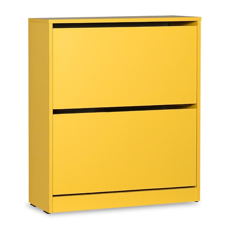 Παπουτσοθήκη ανακλινόμενη Step 12 ζεύγων pakoworld σε χρώμα κίτρινο 73x26x84εκ
