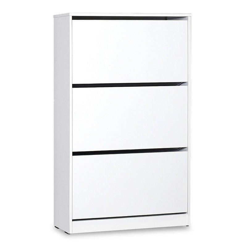 Παπουτσοθήκη ανακλινόμενη Step 18 ζεύγων pakoworld σε χρώμα λευκό 73x26x119εκ
