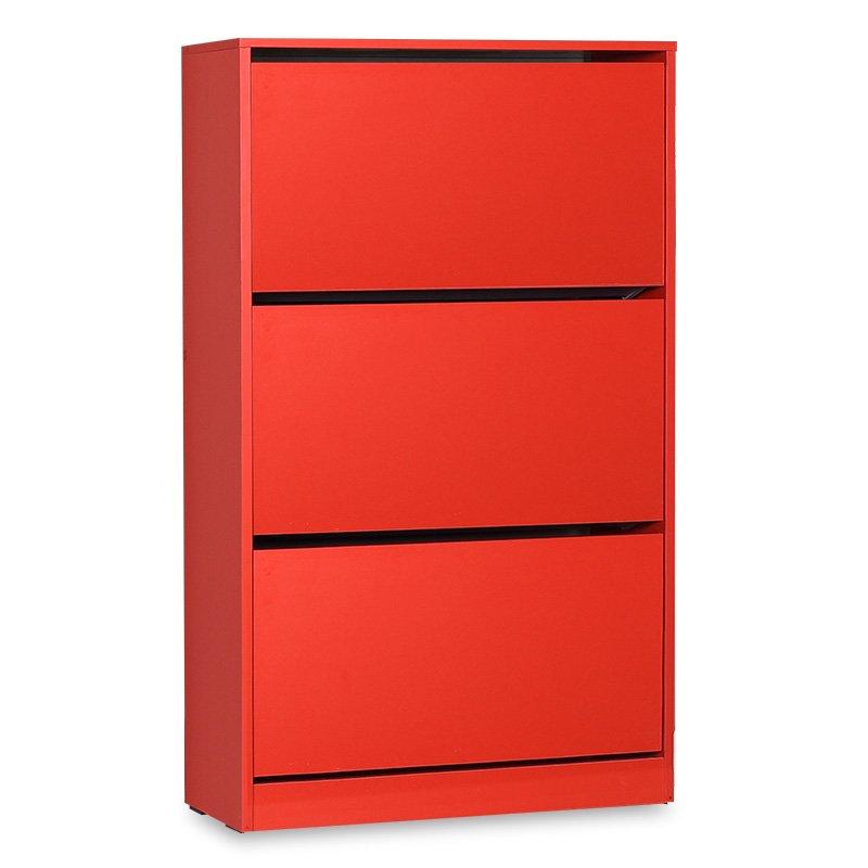 Παπουτσοθήκη ανακλινόμενη Step 18 ζεύγων pakoworld σε χρώμα κόκκινο 73x26x119εκ