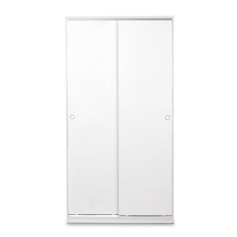 Ντουλάπα ρούχων Slide pakoworld δίφυλλη με συρόμενες πόρτες - χώρισμα χρώμα λευκό 94x52x182εκ
