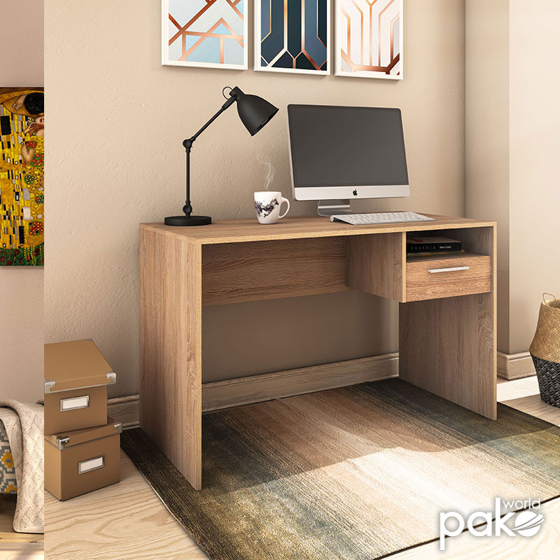 Γραφείο Concept pakoworld με συρτάρι σε χρώμα sonoma 120x60x75εκ