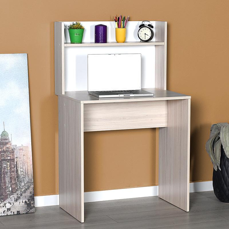 Γραφείο-ραφιέρα Dynamic pakoworld χρώμα light sonoma 72x52x119εκ