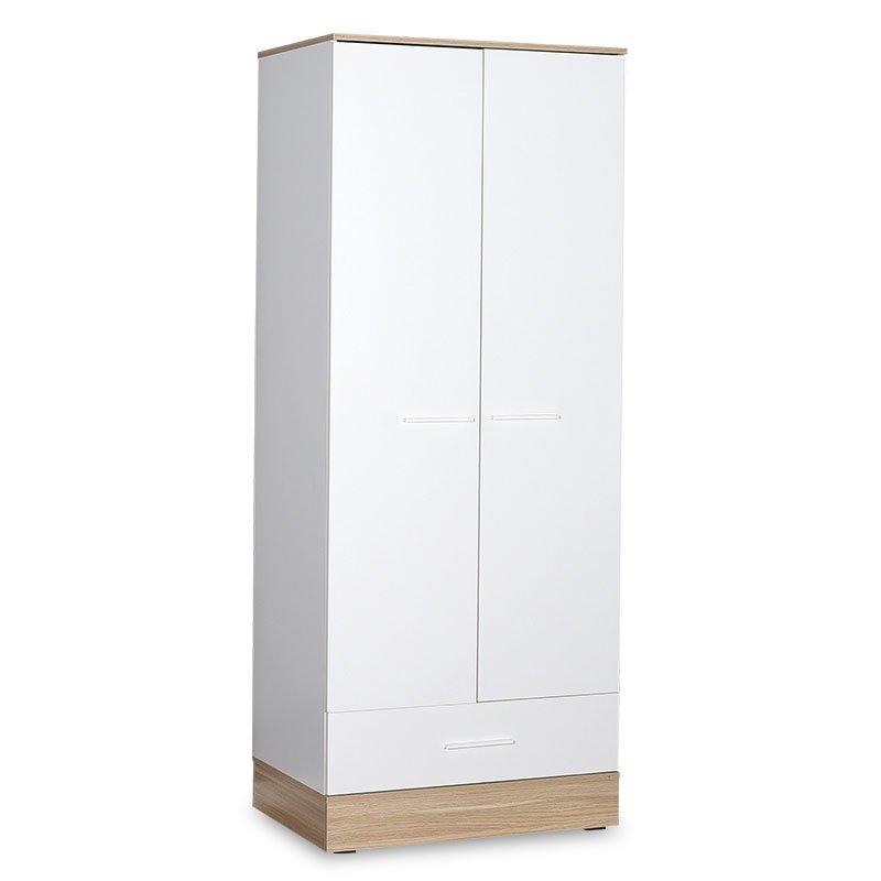 Ντουλάπα ρούχων Prue pakoworld δίφυλλη λευκό-sonoma 80x52x198εκ