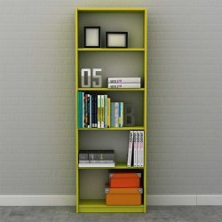 Βιβλιοθήκη Max σε lime χρώμα 58x23x170εκ