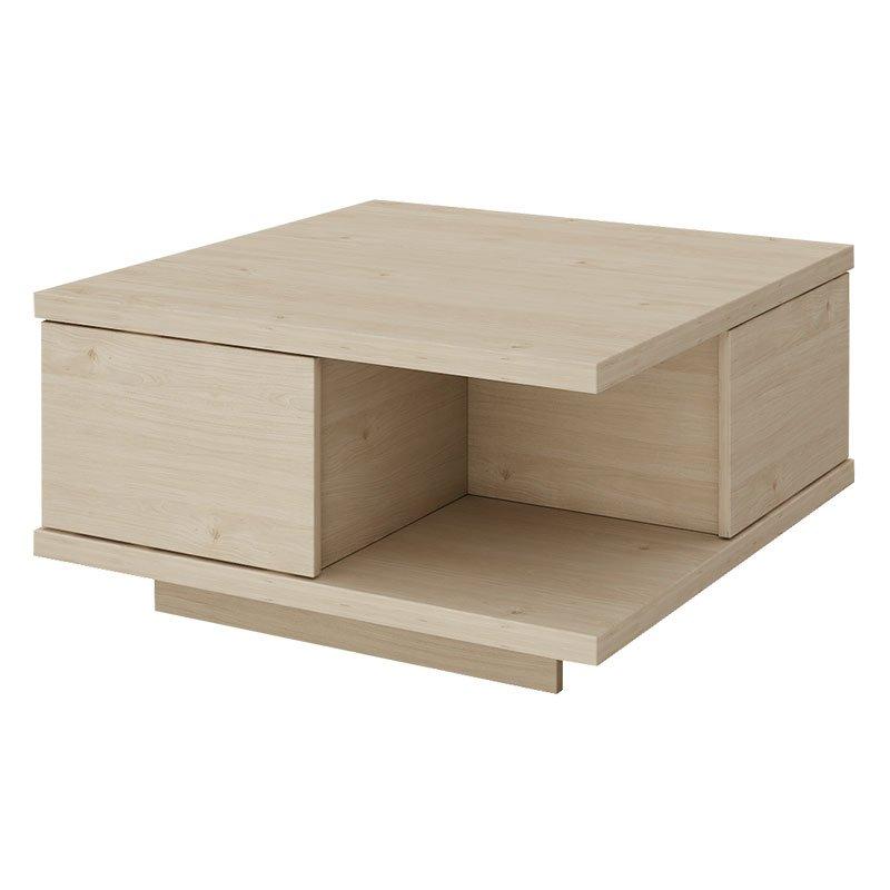Τραπέζι σαλονιού Square pakoworld χρώμα φυσικό 75x75x40εκ