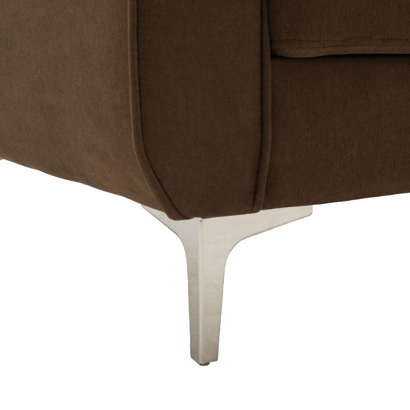 Γωνιακός καναπές Ballon pakoworld αναστρέψιμος υφασμάτινος χρώμα καφέ 218x135x83,5εκ